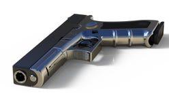 pistol on white background. 3D render. 9mm  pistol on white background. 3D render Stock Images