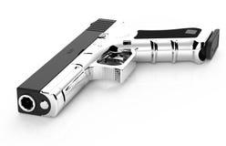 pistol on white background. 3D render Stock Images
