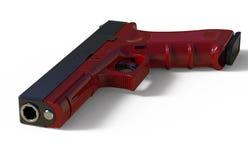 pistol on white background. 3D render Stock Photos
