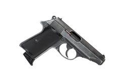 Pistol On White Stock Photos