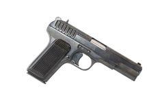 Pistol On White Stock Photo