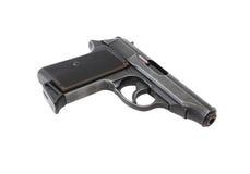 Pistol On White Stock Images