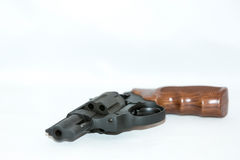 Pistol with wooden handle Stock Image