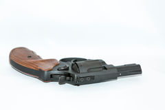Pistol with wooden handle Stock Images