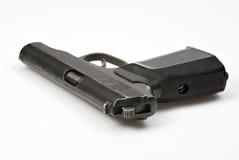 Pistola 9mm Makarov 2 su priorità bassa bianca Fotografia Stock Libera da Diritti