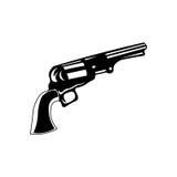 Pistola ad ovest selvaggia del cowboy di stile di scarabocchio Illustrazione di vettore Royalty Illustrazione gratis