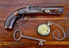 Pistola antiga da percussão Imagens de Stock