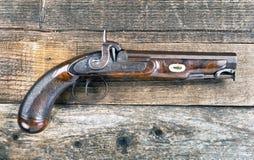 Pistola antigua de la percusión Fotografía de archivo libre de regalías