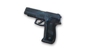 Pistola, arma isolata su bianco Fotografie Stock Libere da Diritti