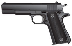 Pistola automática stock de ilustración