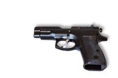 Pistola automática aislada en el fondo blanco Fotos de archivo