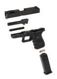 Pistola automática explodida Imagens de Stock Royalty Free