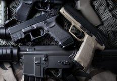 Pistola automatica della mano di Pistal breve Immagini Stock Libere da Diritti