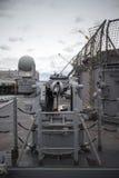 Pistola a bordo della nave Fotografie Stock Libere da Diritti