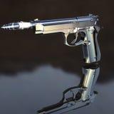 Pistola con il richiamo di volo Fotografia Stock