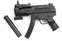 Pistola con il silenziatore Immagini Stock Libere da Diritti