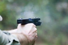Pistola - corrediça para trás Imagens de Stock Royalty Free