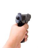 Pistola da terra arrendada da mão foto de stock