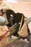 Pistola dalla seconda guerra mondiale immagini stock