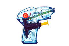 Pistola de agua azul Imagen de archivo libre de regalías