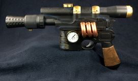 Pistola de máquina de Steampunk Imagens de Stock