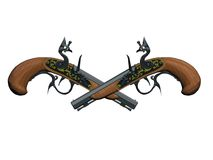 Pistola dei pirati Fotografie Stock Libere da Diritti