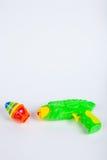 Pistola del giocattolo con trottola Fotografie Stock
