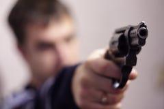 Pistola del primo piano pericolosa Immagine Stock Libera da Diritti