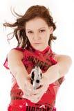 Pistola del vestito dal pericolo seria Fotografie Stock