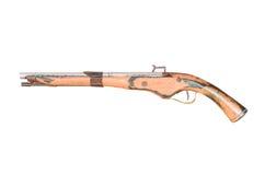 Pistola dell'annata isolata Fotografie Stock