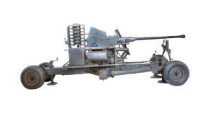 Pistola della difesa di battaglia dell'aereo di aria Fotografie Stock Libere da Diritti