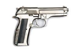 Pistola della mano isolata Fotografie Stock Libere da Diritti