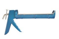 Pistola di colla dell'assemblea della costruzione Immagine Stock Libera da Diritti