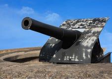 Pistola di guerra dell'isola di giovedì vecchia fotografia stock libera da diritti