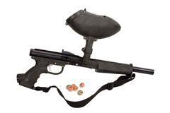 Pistola di Paintball - ricreazione Immagini Stock