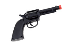 Pistola di plastica nera Immagini Stock