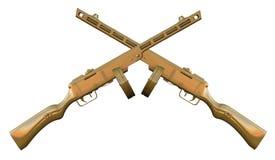 Pistola di submachine PPSh-41 Fotografie Stock