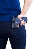 Pistola a disposizione Fotografie Stock Libere da Diritti