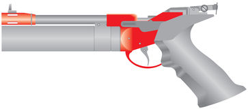 Pistola do ar Ilustração Stock