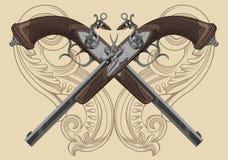 Pistola do Flintlock ilustração stock