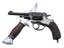 Pistola e coltello Fotografie Stock Libere da Diritti