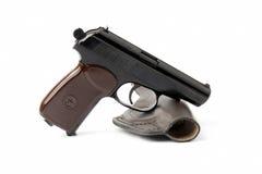 Pistola e custodia per armi Immagini Stock