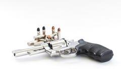 Pistola e pallottole di Chrome Fotografia Stock