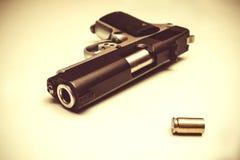Pistola e richiamo Immagini Stock