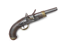 Pistola francesa do sílex (injetor) do século 19 Fotografia de Stock