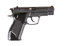 Pistola isolada no fundo branco Foto de Stock
