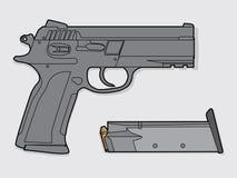 Pistola isolata Fotografie Stock