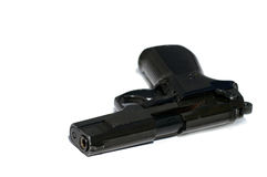 Pistola isolata su bianco Immagini Stock Libere da Diritti