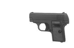 Pistola isolata su fondo bianco, concetto Immagine Stock