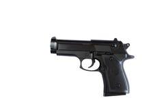 Pistola isolata su priorità bassa bianca Fotografie Stock